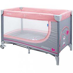 Gyermek utazóágy Baby Mix Maci pink