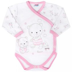 Baba áthajtós patentos body New Baby Bears rózsaszín