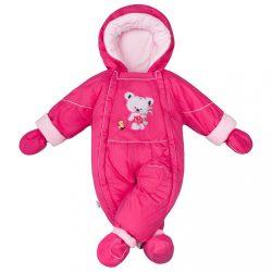 Téli kezeslábas 2az1-ben New Baby Winter sötét rózsaszín