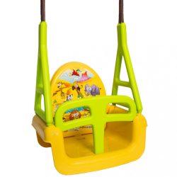 Gyerek hinta 3az1-ben szafari Swing yellow