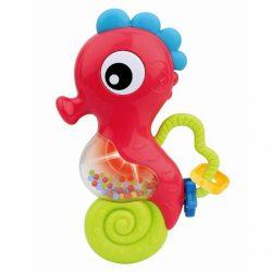 Zenélő csörgő Baby Mix tengeri ló piros