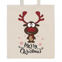 Pamut bevásárló táska természetes, nyomtatással New Baby Merry Christmas