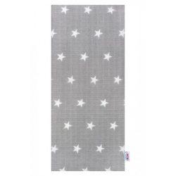 New Baby pamut pelenka nyomtatott mintával szürke csillagokkal fehér