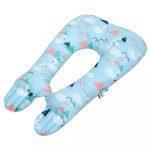 Multifunkciós stabilizáló párna New Baby hattyúk világos kék