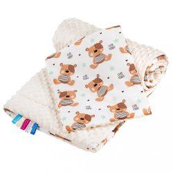 Kétoldalas együttes Minka New Baby babakocsiba teddy bézs