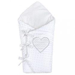 Luxus megkötős pólya Minka New Baby fehér 75x75 cm