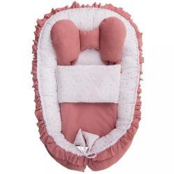 Babafészek paplannal kisbabák számára Belisima Angel Baby rózsaszín