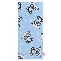 Pamut mintás pelenka New Baby kék panda fehér pöttyös