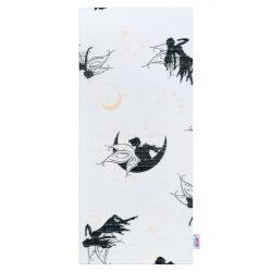 Pamut pelenka nyomtatott mintával New Baby fehér tündérkékkel