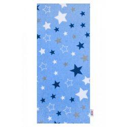 Flanel pelenka nyomtatott mintával New Baby kék csillagok