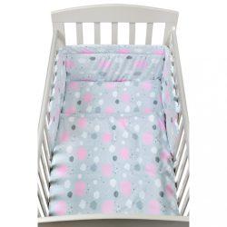 2-részes ágyneműhuzat New Baby 90/120 cm felhőcske rózsaszín