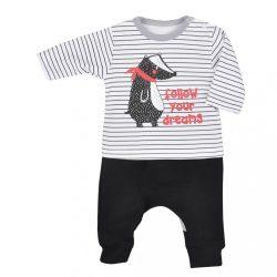 Baba szabadidő nadrág és póló Koala Borz csíkos