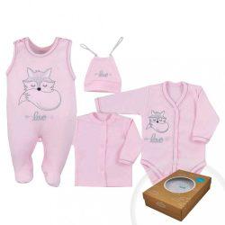 4-részes baba együttes Koala Fox Love rózsaszín