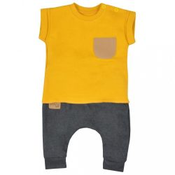 Baba szabadidő nadrág és póló Koala Summer Boy szürke - mustár szín