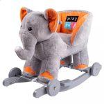 Hintajáték dallammal és kerekekkel PlayTo elefánt