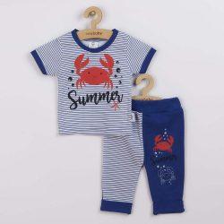 Baba rüvid ujjú póló és szabadidő nadrág New Baby Summer