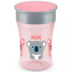 Bájos itató pohár Magic NUK 360° fedéllel rózsaszín