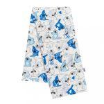 Pamut mintás pelenka New Baby fehér kutyus és cica kék