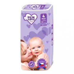 Gyermek eldobható pelenka New Love Premium comfort 4 MAXI 7-18 kg 44 db