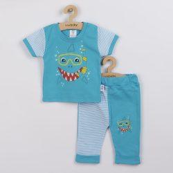 Baba rüvid ujjú póló és szabadidő nadrág New Baby Shark