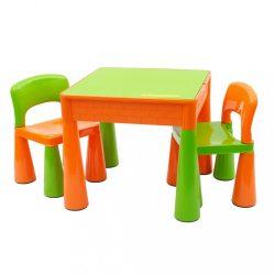 Gyerek szett NEW BABY - asztalka két székkel narancssárga