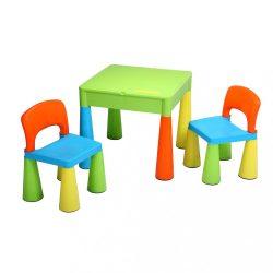 Gyerek szett NEW BABY - asztal két székkel multi color