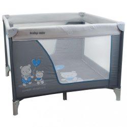 Gyermek összecsukható járóka Baby Mix 106x106 macik blue-grey