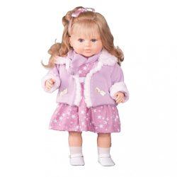 Luxus beszélő spanyol baba-kislány Krisztinka 52cm