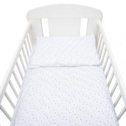 2-részes ágyneműhuzat New Baby 90/120 cm fehér szürke csillagok
