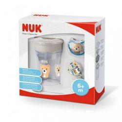Ajándék készlet NUK Magic cup space bézs 6h+