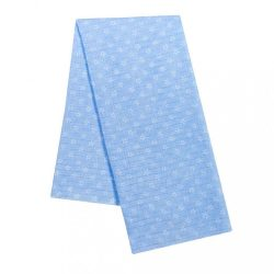 Pamut pelenka nyomtatott mintával New Baby kék fehér csillagokkal