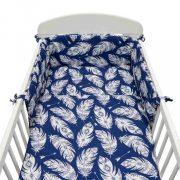 3-részes ágyneműhuzat New Baby 90/120 cm Tollak kék