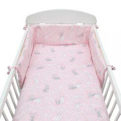 3-részes ágyneműhuzat New Baby 90/120 cm Nyuszi rózsaszín