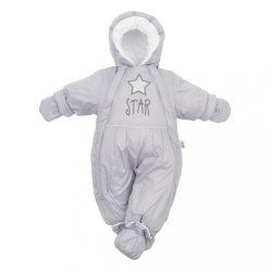 Téli kezeslábas 2az1-ben New Baby szürke