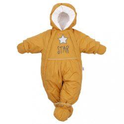 Téli kezeslábas 2az1-ben New Baby mustár