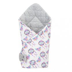 Kétoldalas pólya Velvet New Baby 75x75 cm álom elkapó szürke