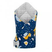 Kétoldalas pólya Velvet New Baby 75x75 cm éjszakai róka szürke