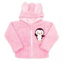 Téli baba pulóver New Baby Penguin rózsaszín