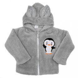 Téli baba pulóver New Baby Penguin szürke