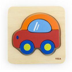 Fa képes kirakó puzzle Viga Autó