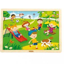 Gyermek fa kirakó puzzle Viga Tavasz