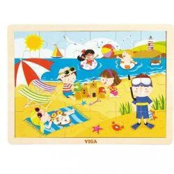 Gyermek fa kirakó puzzle Viga Nyár