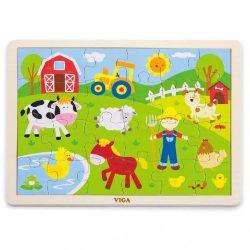 Gyermek fa puzzle Viga Farma