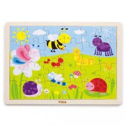 Gyermek fa kirakó puzzle Viga Mező