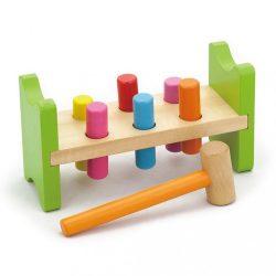 Fa kalapálós asztal gyerekeknek Viga