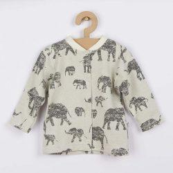 Baba kabátka Baby Service Elefánt szürke