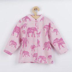 Baba kabátka Baby Service Elefánt rózsaszín