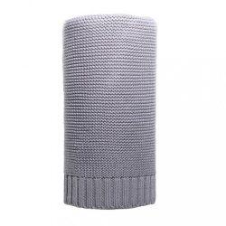 Bambusz kötött takaró NEW BABY 100x80 cm szürke