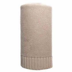 Bambusz kötött takaró NEW BABY 100x80 cm bézs