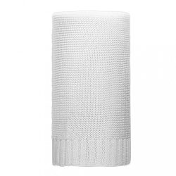 Bambusz kötött takaró NEW BABY 100x80 cm fehér
